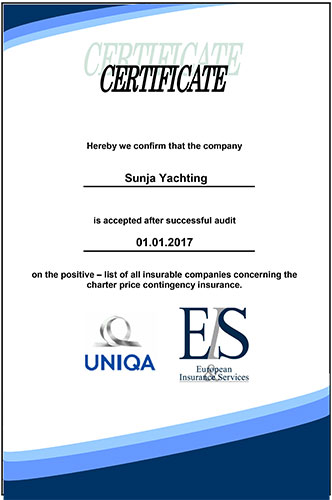 Uniqa Travel price hedging Sunja Yachting