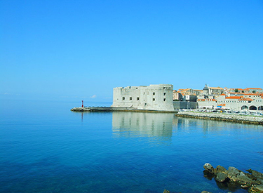 Yacht harbour entrance of Dubrovnik