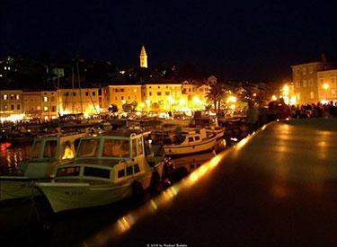 Harbour Promenade Mali Losinj at night
