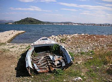View of the coast of Murter Croatia