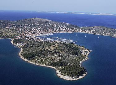 Coast of the island Murter Croatia