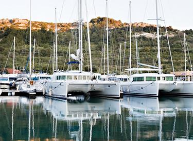 Catamarans in the port of Primosten