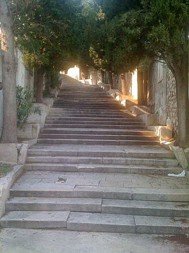 Romantic staircase Sibenik