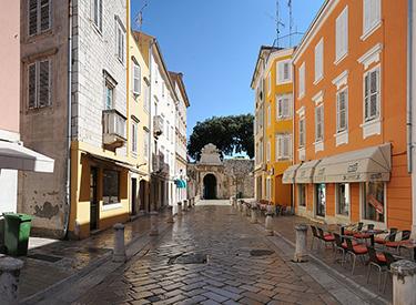 cozy street in Zadar