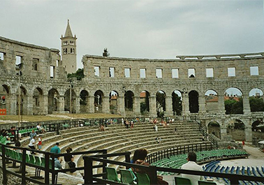 Amphitheater in Pula Croatia from the inside